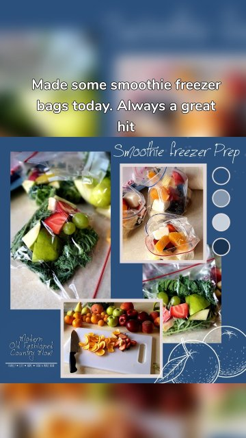 Made some smoothie freezer bags today. Always a great hit