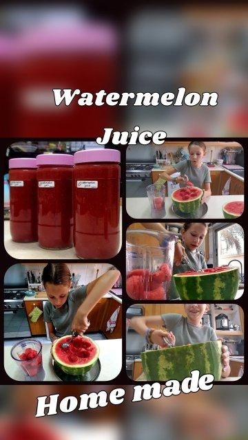 Home made Watermelon Juice